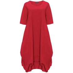D Celli Red Plus Size A-line ruffle hem dress ($91) ❤ liked on Polyvore featuring dresses, plus size, red, women's plus size dresses, ruching dress, red ruched dress, rouched dress and red dress