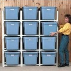 "Build with 1 1/2"" PVC Pipe - Will this work for my fabric storage bins??"