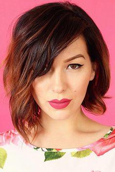 awesome Экстравагантная косая челка (50 фото) —  разнообразные модные стрижки…