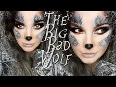halloween costumes women - The BIG BAD Wolf Makeup Tutorial! Wolf Make Up Halloween, Halloween 2018, Wolf Halloween Costume, Werewolf Costume, Halloween Looks, Halloween Makeup, Wolf Costume Women, Big Bad Wolf Costume, Wolf Face Paint