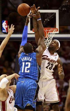 LeBron James Blocks Dwight Howard
