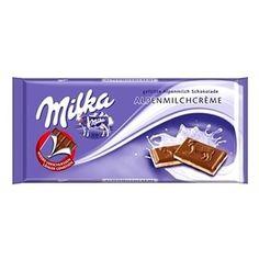 Retro Metal Magnet /'MILKA/' 8 x 6cm Chocolate Advert Style Purple Cow