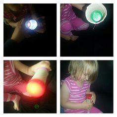 fun with light lichtkunst kids kinderen children easy dopjes wc rol en zaklamp flashlight lits