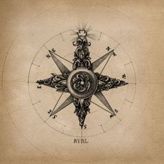 Cool compass for elbow tattoo.