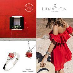 #lunatica #lunaticagioielli #jewelry #italian #style #madeinitaly #handmade #red #passion #ruby #lovely #fashion #style #glam #inspiration #mood #rubini #rosso #passione #girls #fresh #roma #rome #italy #italianstyle #precious #18kt #gold #ring #anello #pendant #ciondolo