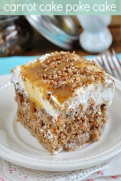 Antje: Carrot Cake Poke Cake....