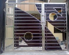Attractive Wooden Front Gate Designs Fabricated Gates Wooden Gate Manufacturer From Chennai House Main Gates Design, Front Gate Design, Door Gate Design, House Front Design, Metal Gates, Wrought Iron Gates, Balustrade Inox, Stainless Steel Gate, Steel Doors And Windows