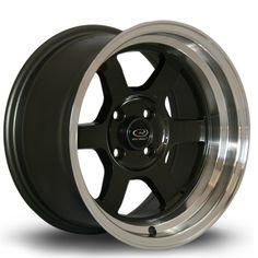 15 ROTA GRID-V GUNMETAL 8J 4 stud 0 offset alloy wheels