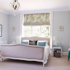 Duck-egg blue bedroom | Country decorating ideas | housetohome.co.uk