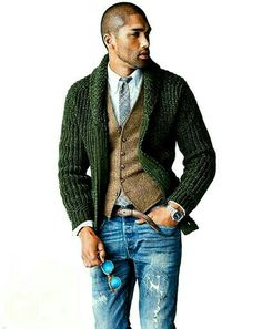How to Wear a Shawl Cardigan For Men looks & outfits) Sharp Dressed Man, Well Dressed Men, Looks Style, Looks Cool, Men's Style, Look Fashion, Autumn Fashion, Fashion Ideas, Fashion 2016