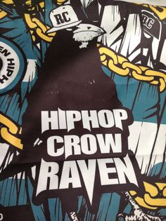 Hiphop crow RAVEN - extreme character pattern - designed by DOLDOL