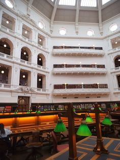 The LaTrobe reading room at the State Library of Victoria, Australia