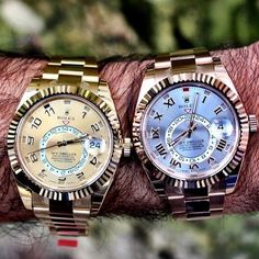 Rolex Sky-Dweller in Yellow & Rose Gold. Which would you choose?
