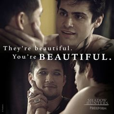 Beautiful ... (season 2, episode 18) ... alexander 'alec' lightwood, magnus bane, malec, matthew daddario, shadowhunters, the mortal instruments, harry shum jr