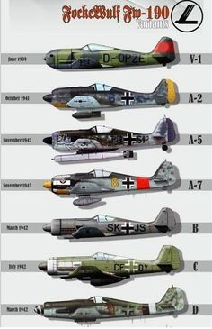 The evolution of the Nazi's war planes throughout World War Germany had a solid air force. The evolution of the Nazi's war planes throughout World War Germany had a solid air force. Ww2 Aircraft, Fighter Aircraft, Military Aircraft, Fighter Jets, Luftwaffe, Focke Wulf 190, Old Planes, Airplane Fighter, Aircraft Painting