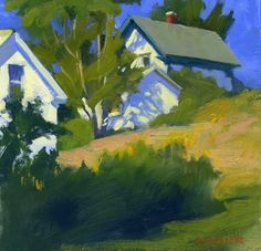 """Oil on panel, 6"""" x 6""""  Another painting from Stonington, looking uphill.   I found a great book when I was there, it's called """"How Photogr..."""