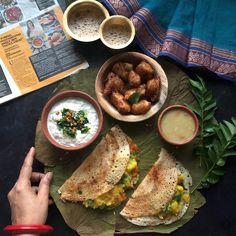 "1,552 Likes, 52 Comments - Uma Raghuraman🌟Masterchefmom (@masterchefmom) on Instagram: ""Our Sunday Brunch platter - Mysore Masala Dosai, Coconut Chutney and super crispy 'Idli Bondas'…"""