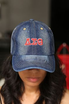 With unique designs you won't find anywhere else, our caps are the quality type that are designed with a thicker woven fabric. Not those flimsy weak ones that lose shape. - stitched embroidered d Delta Sigma Theta Gifts, Alpha Kappa Alpha, Sorority Outfits, Sorority Life, What Is A Delta, Delta Girl, Dad Caps, Dark Denim, Everyday Fashion