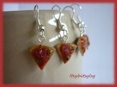 Pizza earrings by ItsybitsyIsy on Etsy, €4.95