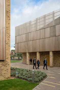 Hawkins\Brown finds musical references for timber-clad school recital hall.