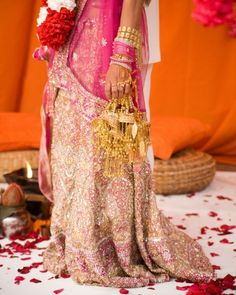pink wedding lehenga  more inspiration @ http://www.ModernRani.com