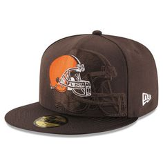 New Era s Cleveland Browns NFL 16 Sideline Official Youth Hat - Brown 27243fbff456
