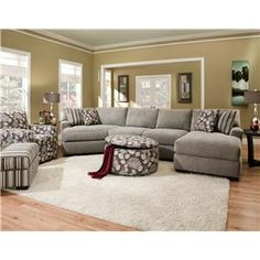 This sectional sofa features enough room to seat four and fits well into living rooms and  sc 1 st  Pinterest : corinthian furniture sectional - Sectionals, Sofas & Couches