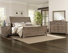 Whiskey Barrel Queen Bedroom Group by Vaughan Bassett. Available at www.muellerfurniture.com or in store at Mueller furniture and Mattress store, St. Louis