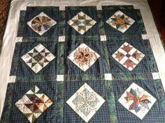 My first handstitched patchwork quilt
