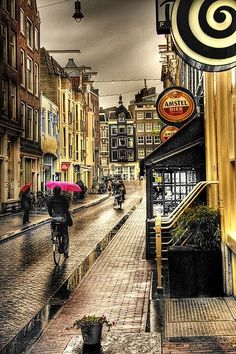 Rainy day - 18 stunningly beautiful pictures of Amsterdam - Netherlands Tourism. #Amsterdam #Netherlands