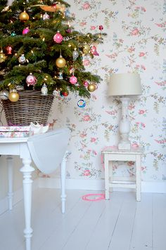 Still-life of Tree & Wallpaper by yvestown, via Flickr
