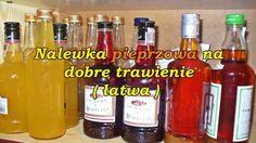 Nalewka pieprzowa na dobre trawienie ( łatwa ). Vodka Bottle, Polish, Homemade, Drinks, Kitchen, Food, Drinking, Vitreous Enamel, Beverages