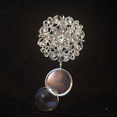 1 Rhinestone Wedding Bouquet Charm Kit pin by Weddingbouquetcharms