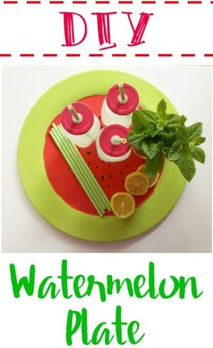 DIY Watermelon Plate