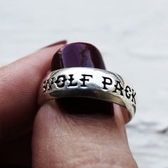 Wolf pack ring.