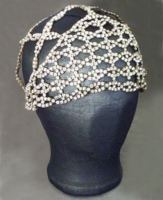 Flapper rhinestone evening cap, c.1925, from the Vintage Textile archives.