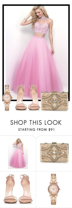 """Pink lady"" by azrapjanic27 ❤ liked on Polyvore featuring Blush, Forever Unique, Stuart Weitzman and Michael Kors"