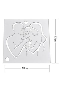 Mom Dad and Baby Shower Cake Stencil Family Cake Decorating Cupcake Stencil Coffee Stencil Icing Stencil for Cookies Craft Decorative Baby Shower Brunch, Boho Baby Shower, Baby Shower Cakes, Baby Shower Themes, Baby Boy Shower, Baby Shower Decorations, Baby Shower Checklist, Coffee Stencils, Family Cake