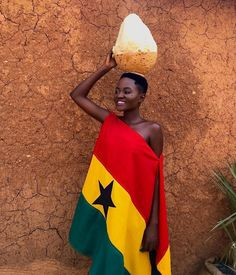 Ghana flag, independence day outfit inspiration for Ghanaian. Ghana Culture, Ghana Flag, Agbada Styles, Fashion Scout, African Fashion Designers, Africa Fashion, African Beauty, Outfit Of The Day