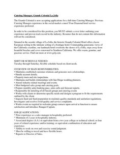 catering manager resume cover letter examples hashdoc