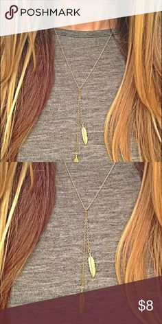 L7New Gold. Double Feather Necklace Bohemian style L7 New Boho style Double  Feather Necklace Jewelry Necklaces