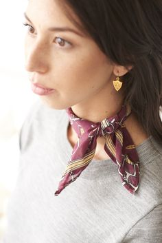 How to tie our new Equestrian Scarves! ExVoto Vintage