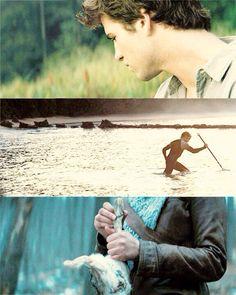 Hunger Games / Catching Fire / Katniss / Hunting / Rabbit / Animal / Gale / Peeta