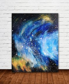 ORIGINAL painting We Are All Made of Stardust by theloveshop, $250.00