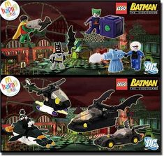 2008 LEGO BATMAN MINIFIGURES SET OF 8 EXCLUSIVE VIDEO GAME CHARACTER MCDONALDS TOYS