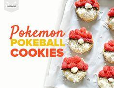 Pokemon Pokeball Cookies with Paleo Ingredients