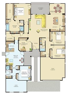 Everything's Included by Lennar, the leading homebuilder of new homes for sale in the nation's most desirable real estate markets. Sims House Plans, Family House Plans, Barn House Plans, Country House Plans, New House Plans, Dream House Plans, House Floor Plans, My Dream Home, Building Plans