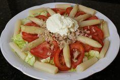 Recetas fáciles de cocina para cocinillas: Ensalada de tomates y espárragos