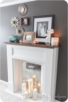 Faux mantle and Fake fireplace mantles