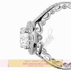 9kt white gold ring for ladies. If you are stuck in buying a present or gift for a loved one, this ones for you.  Its a stunning jewel which is sophisticated and heightened to perfection.  To view or purchase visit www.zurachijewels.com -